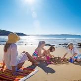 Mum and kids at the beach