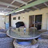 Cabbage Palm - Back Deck secured, BBQ to laundry area