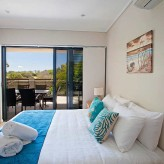 Loka Santi apartments bedroom view