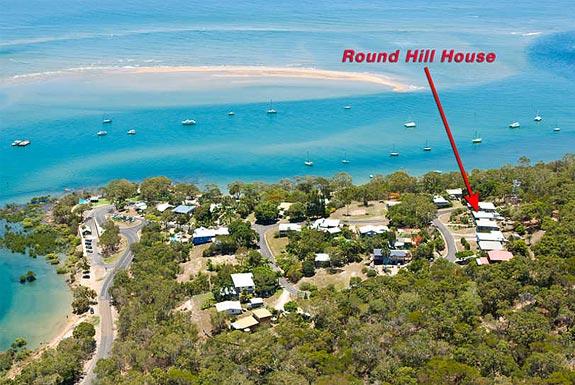 Round Hill Cottage - aerial photo