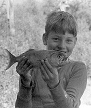 Fishing as a boy at 1770