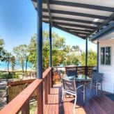 Sunset Cabins deck