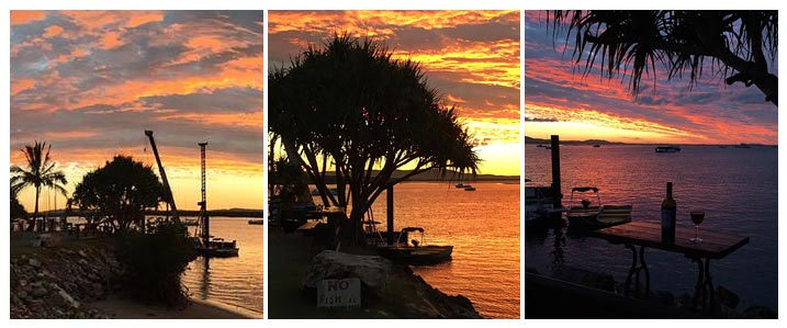 Photos taken of a recent sunset at Agnes Water 1770