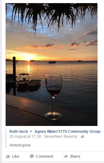 Sunset, water and a glass of wine - Agnes Water 1770