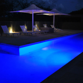 Pool - outdoor area. Night time photo