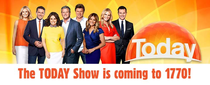 The TODAY Show will be broadcasting live from 1770 this Spring