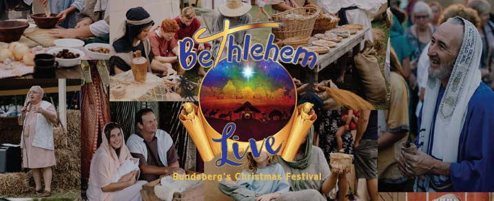 Bethlehem Live Bundaberg - logo and collage of images from last years event