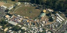 Aerial shot of the Gin Gin showgrounds