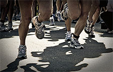 close up of legs running in the event