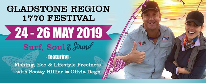 Gladstone Region 1770 Festival 2019 - banner