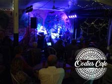 Photo taken during live music gig at Oodies Cafe - Bundaberg